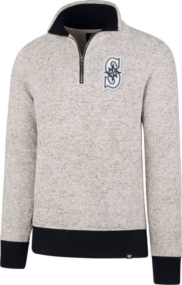 '47 Men's Seattle Mariners Kodiak White Quarter-Zip Pullover product image