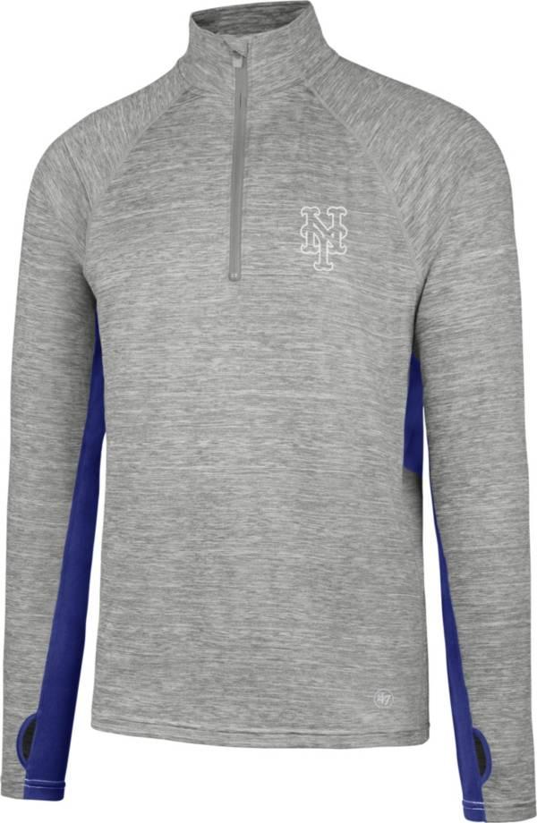'47 Men's New York Mets Grey Quarter-Zip Pullover product image