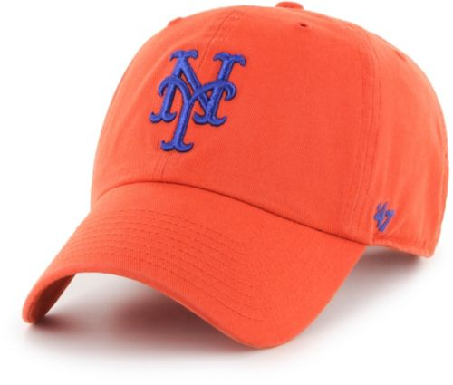 47 Men s New York Mets Clean Up Orange Adjustable Hat  6614305b7c9