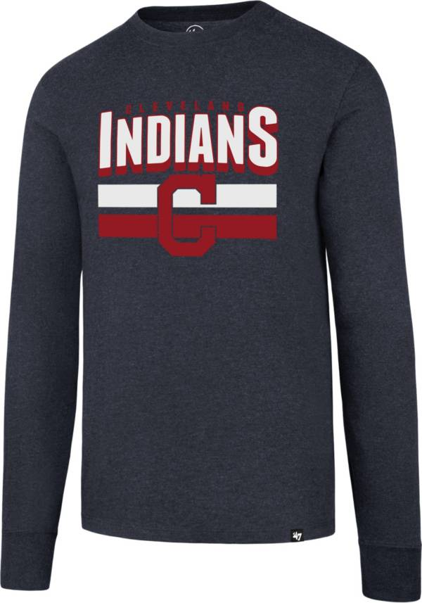 47 Men's Cleveland Indians Club Navy Long Sleeve T-Shirt product image
