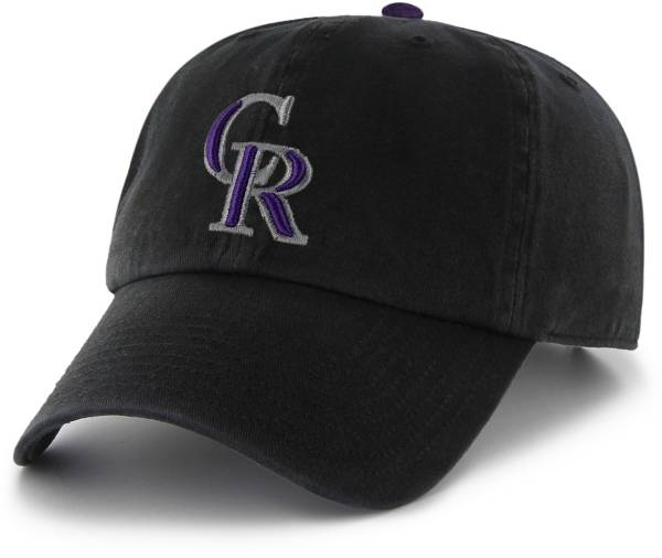 '47 Men's Colorado Rockies Clean Up Black Adjustable Hat product image