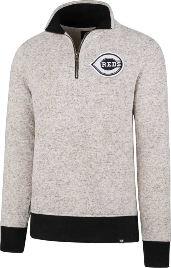 '47 Men's Cincinnati Reds Kodiak White Quarter-Zip Pullover product image