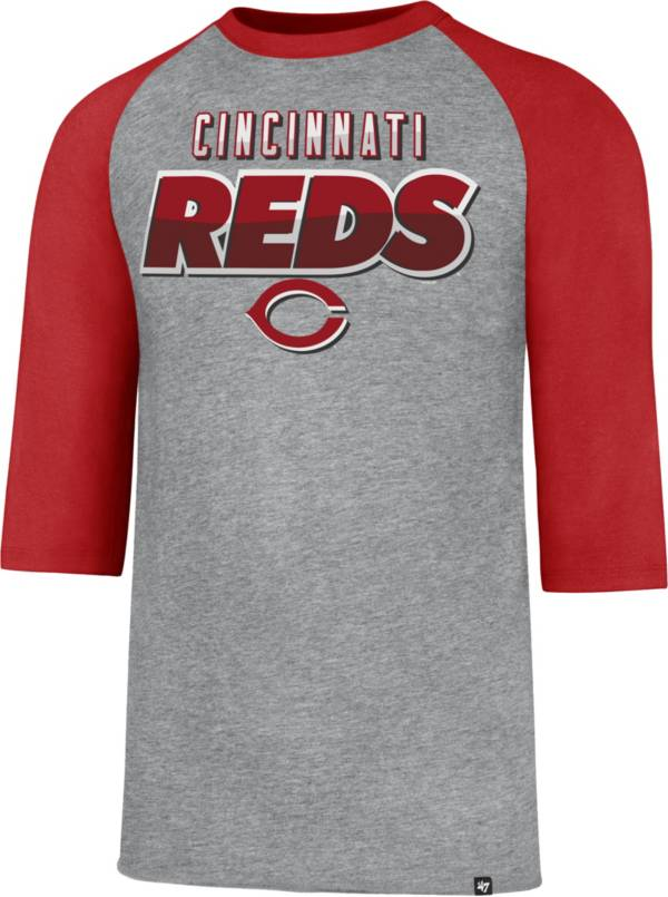 47 Men's Cincinnati Reds Club Grey Three-Quarter Sleeve T-Shirt product image