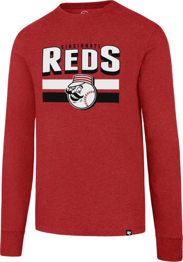 47 Men's Cincinnati Reds Club Red Long Sleeve T-Shirt product image