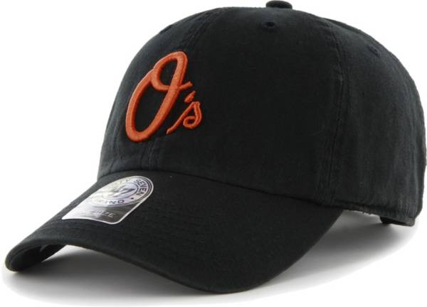 '47 Men's Baltimore Orioles Clean Up Black Adjustable Hat product image
