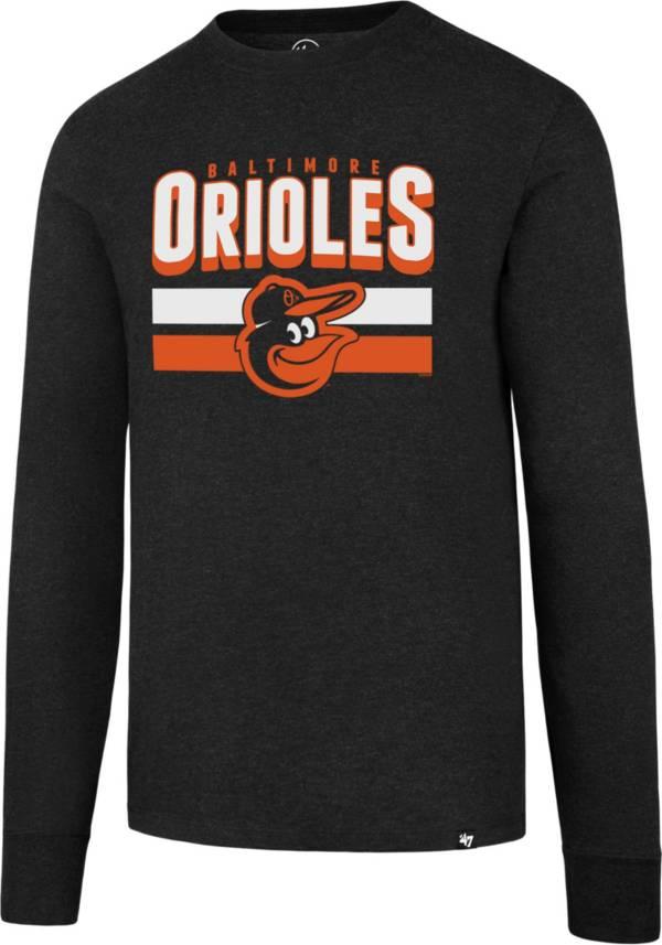 47 Men's Baltimore Orioles Club Black Long Sleeve T-Shirt product image