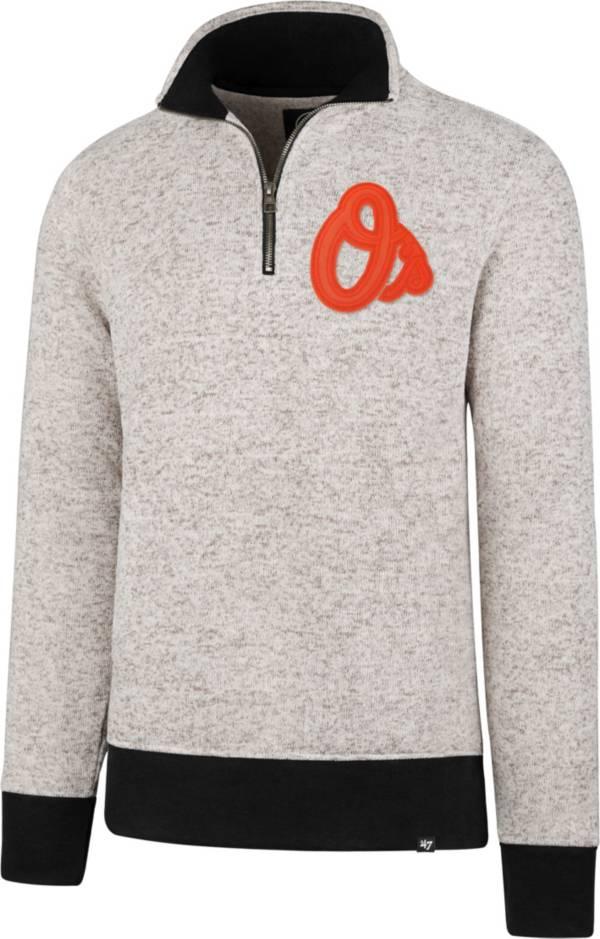 '47 Men's Baltimore Orioles Kodiak White Quarter-Zip Pullover product image