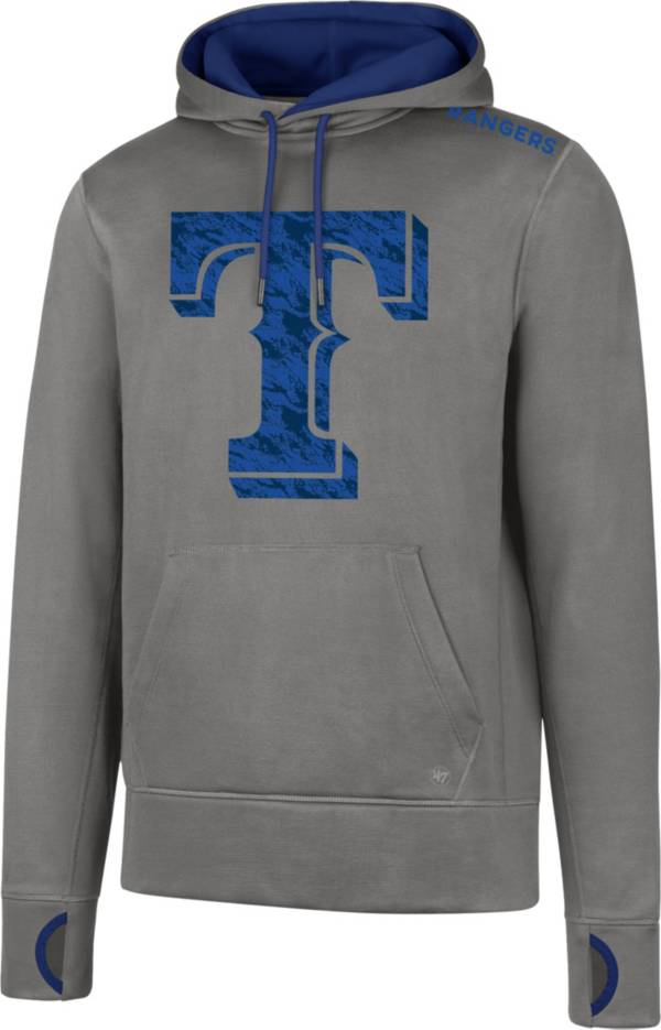'47 Men's Texas Rangers Grey Pullover Hoodie product image