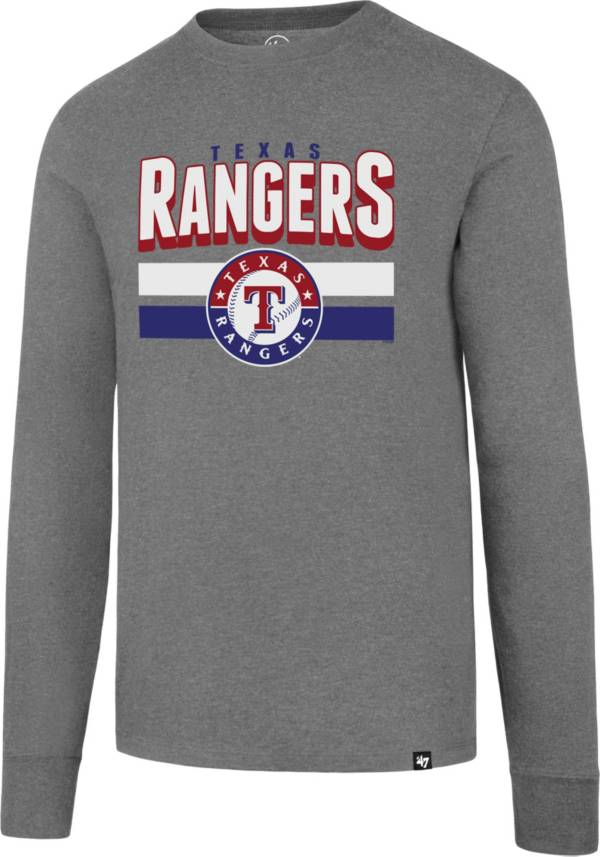 47 Men's Texas Rangers Club Grey Long Sleeve T-Shirt product image