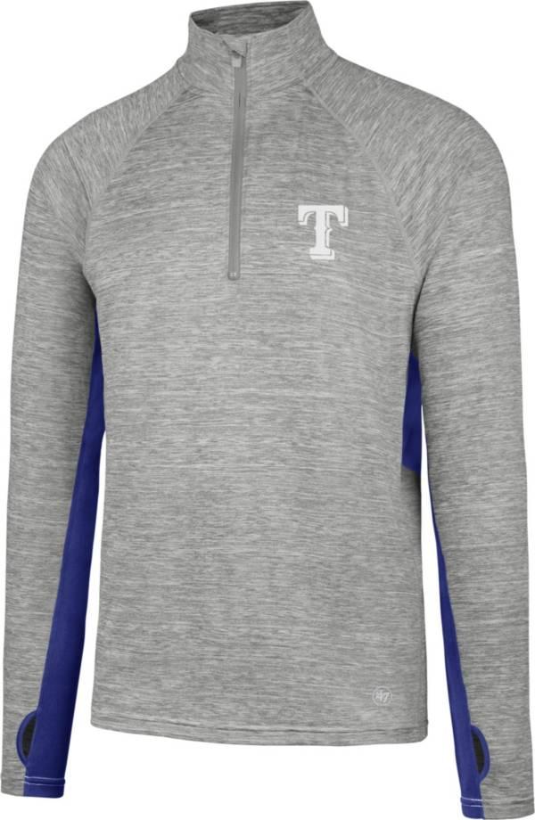 '47 Men's Texas Rangers Grey Quarter-Zip Pullover product image