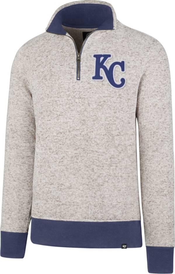 '47 Men's Kansas City Royals Kodiak White Quarter-Zip Pullover product image