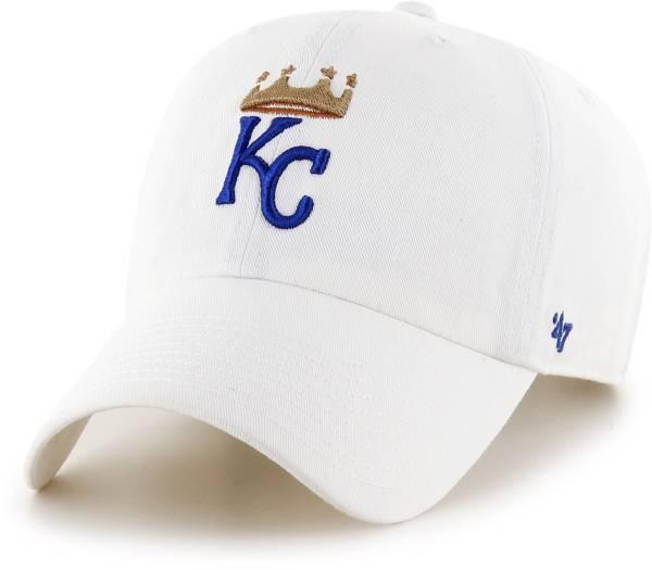 '47 Men's Kansas City Royals Clean Up White Adjustable Hat product image