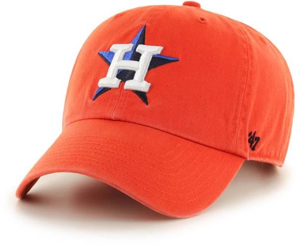 '47 Men's Houston Astros Clean Up Orange Adjustable Hat product image