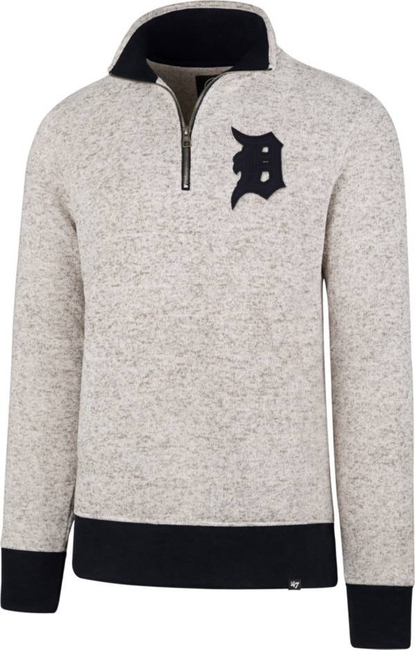 '47 Men's Detroit Tigers Kodiak White Quarter-Zip Pullover product image