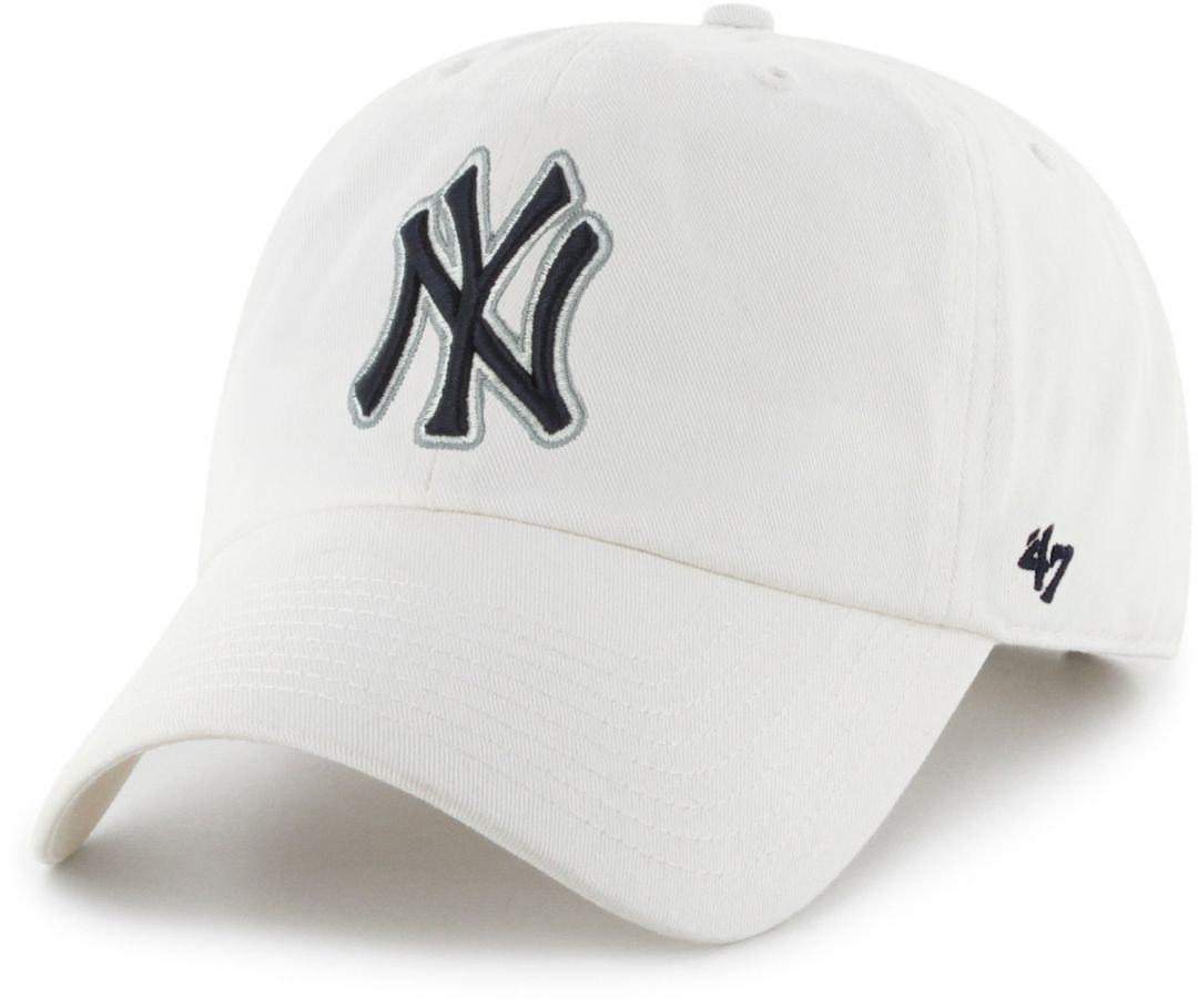 58dbb661 47 Men's New York Yankees Clean Up White Adjustable Hat | DICK'S ...
