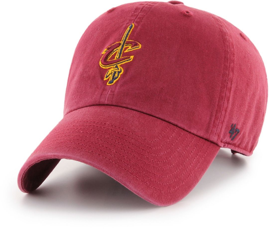 69f72d383f477e 47 Men's Cleveland Cavaliers Burgundy Clean Up Adjustable Hat ...