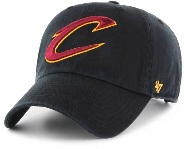 '47 Men's Cleveland Cavaliers Black Clean Up Adjustable Hat product image
