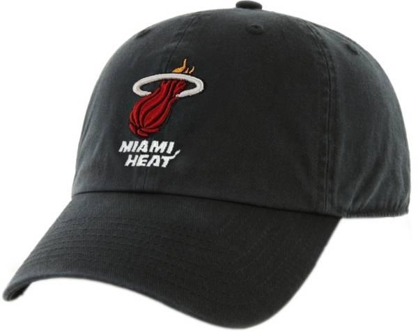 '47 Men's Miami Heat Clean Up Black Adjustable Hat product image
