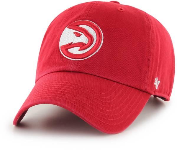 '47 Men's Atlanta Hawks Red Clean Up Adjustable Hat product image