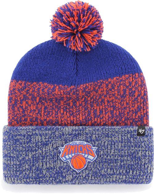ce887355590  47 Men s New York Knicks Static Royal Knit Hat. noImageFound. Previous