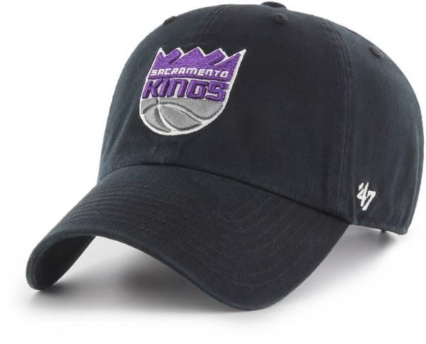 '47 Men's Sacramento Kings Black Clean Up Adjustable Hat product image