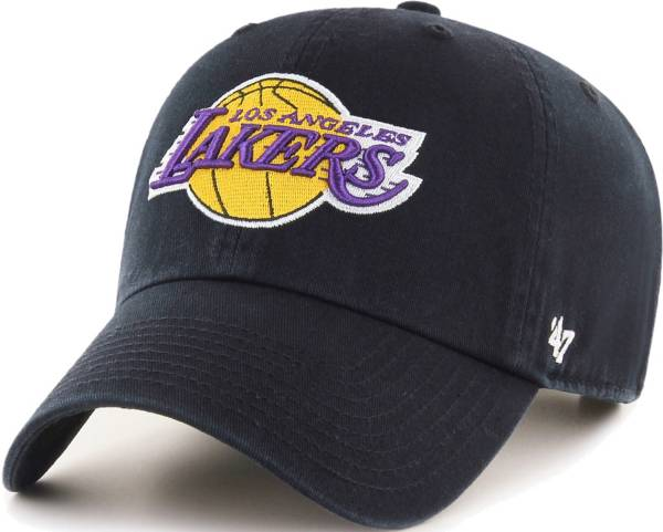 '47 Men's Los Angeles Lakers Black Clean Up Adjustable Hat product image