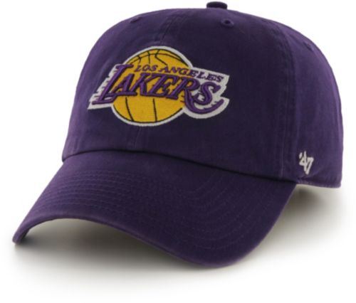 1287460822902 47 Men s Los Angeles Lakers Purple Clean Up Adjustable Hat
