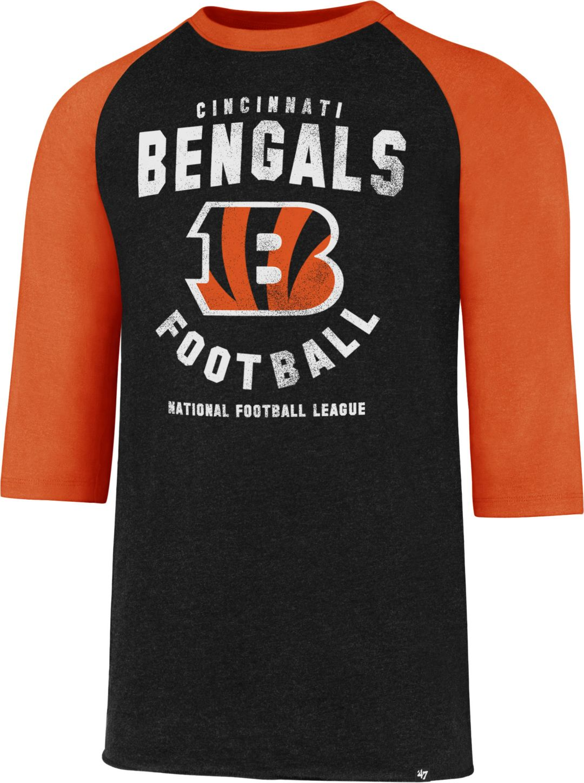 45eb97bd '47 Men's Cincinnati Bengals Club Legacy Black Raglan T-Shirt
