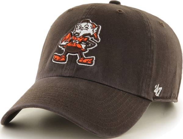 '47 Men's Cleveland Browns Clean Up Throwback Brown Adjustable Hat product image