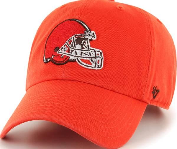 '47 Men's Cleveland Browns Clean Up Orange Adjustable Hat product image