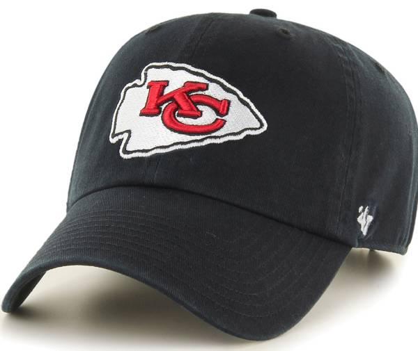 '47 Men's Kansas City Chiefs Clean Up Black Adjustable Hat product image