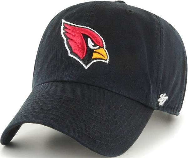 '47 Men's Arizona Cardinals Clean Up Black Adjustable Hat product image