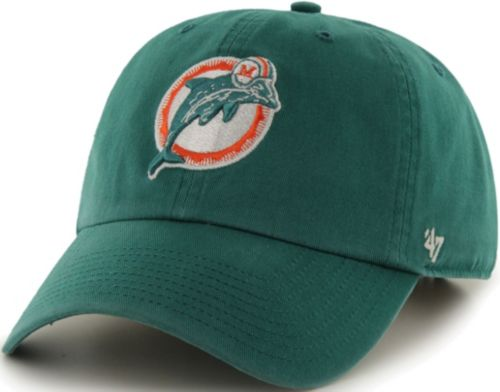 competitive price 52b38 e2150 new style 47 mens miami dolphins legacy clean up aqua adjustable hat 0915c  5772c