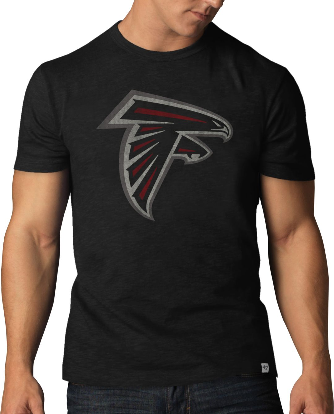 low priced cd131 4e189 '47 Men's Atlanta Falcons Scrum Logo Black T-Shirt