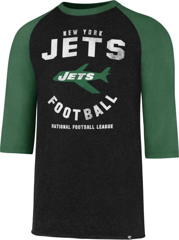 '47 Men's New York Jets Club Legacy Black Raglan T-Shirt product image