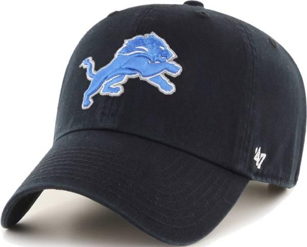 '47 Men's Detroit Lions Clean Up Adjustable Black Hat product image