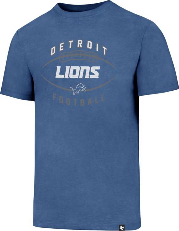 '47 Men's Detroit Lions Club Football Blue T-Shirt product image
