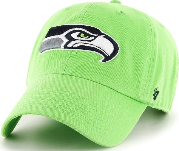 '47 Men's Seattle Seahawks Clean Up Green Adjustable Hat product image