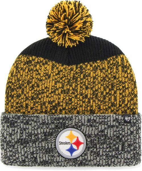 47 Men s Pittsburgh Steelers Static Cuffed Knit  3d7120dbcb4f