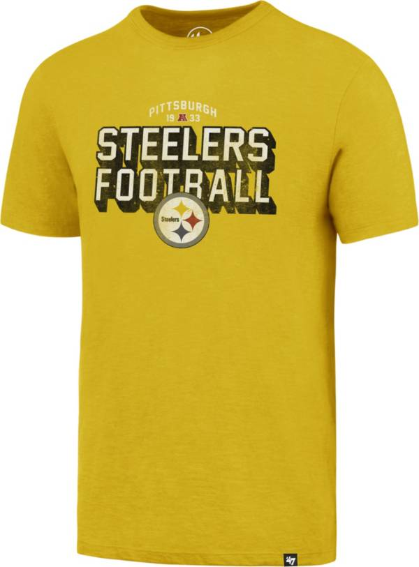 '47 Men's Pittsburgh Steelers Scrum Football Legacy Gold T-Shirt product image