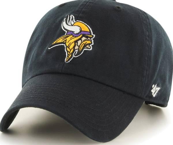 '47 Men's Minnesota Vikings Clean Up Black Adjustable Hat product image