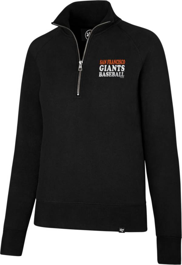 '47 Women's San Francisco Giants Shimmer Black Quarter-Zip Pullover product image