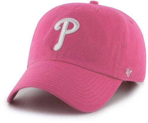 0fd575f6064 47 Women s Philadelphia Phillies Clean Up Pink Adjustable Hat ...
