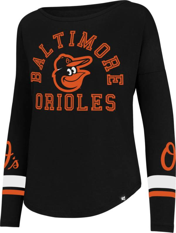 47 Women's Baltimore Orioles Black Long Sleeve T-Shirt product image