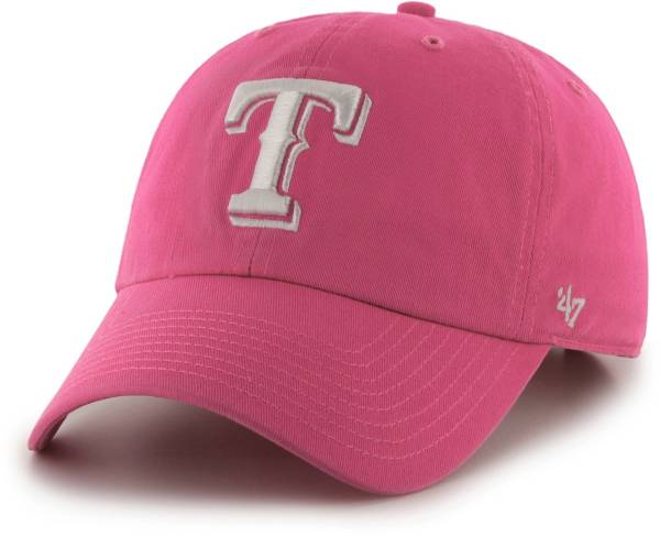 '47 Women's Texas Rangers Clean Up Pink Adjustable Hat product image