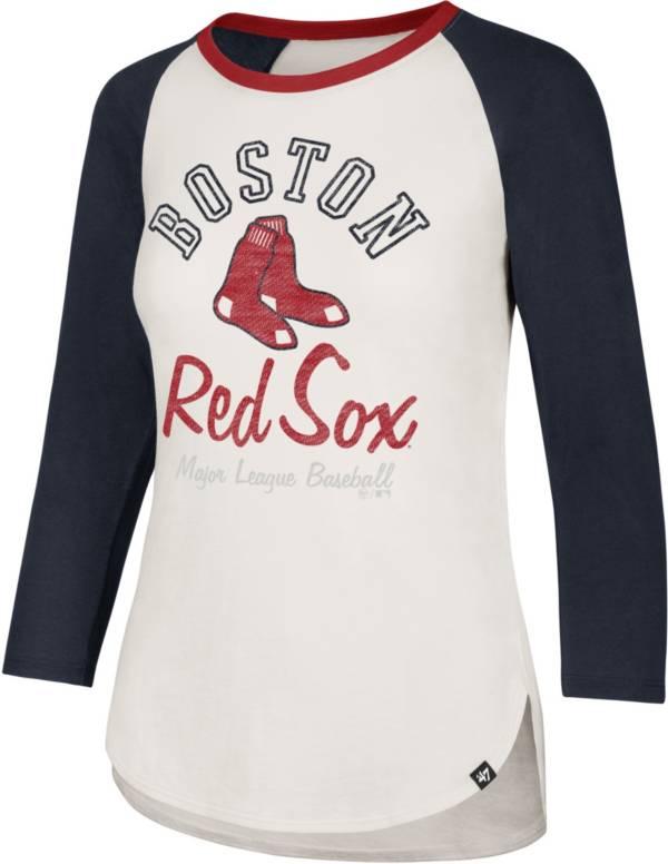 '47 Women's Boston Red Sox Splitter Raglan Three-Quarter Sleeve Shirt product image