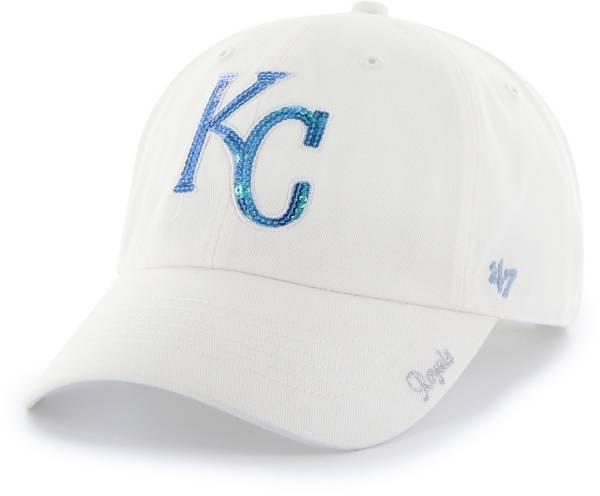 '47 Women's Kansas City Royals Sparkle Clean Up White Adjustable Hat product image