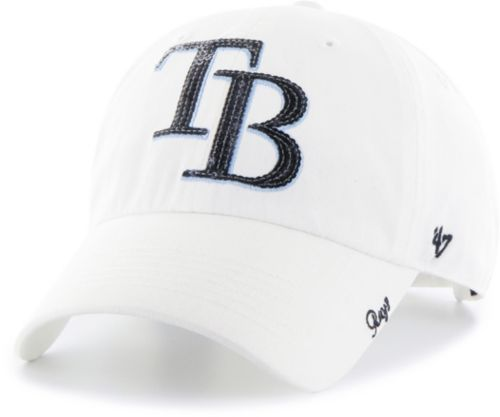 47 Women s Tampa Bay Rays Sparkle Clean Up White Adjustable Hat.  noImageFound. 1 a37eac406