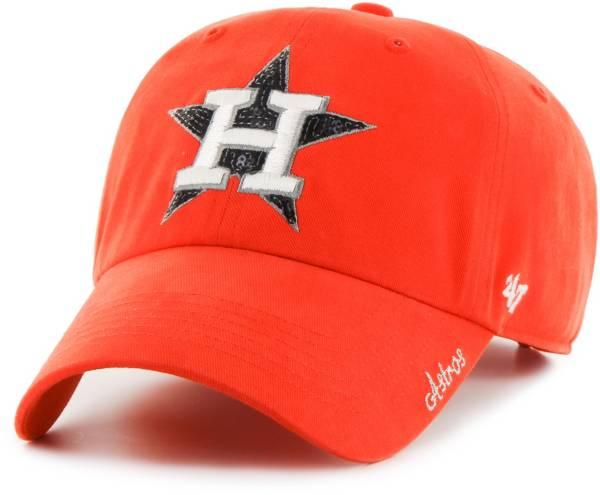 '47 Women's Houston Astros Sparkle Clean Up Orange Adjustable Hat product image
