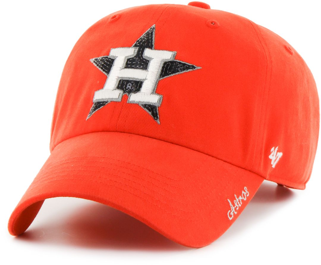 the latest 8aafd ea09e  47 Women s Houston Astros Sparkle Clean Up Orange Adjustable Hat.  noImageFound. 1